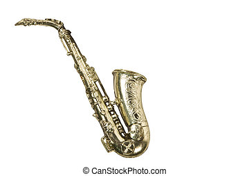 saxophone ornament isolatd with path - saxophone ornament...