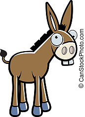 Cartoon Donkey - A happy cartoon donkey standing and...