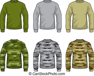 Camouflage Shirts - A variety of different colored...