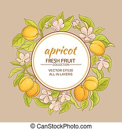 apricot vector frame - apricot branches vector frame on...