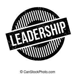 Leadership rubber stamp. Grunge design with dust scratches....