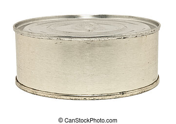 Rusty can - Closeup image of rusty can, isolated on white...