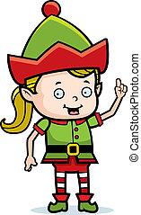 Christmas Elf Idea - A happy cartoon Christmas elf with an...