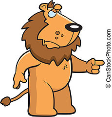Angry Lion - A cartoon lion with an angry expression.