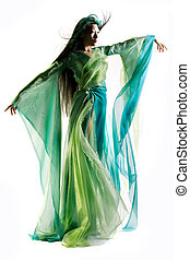 Sorceress - Chinese girl dressed in fantasy robe