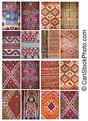 carpet pattern collage - turkish antique carpets pattern...