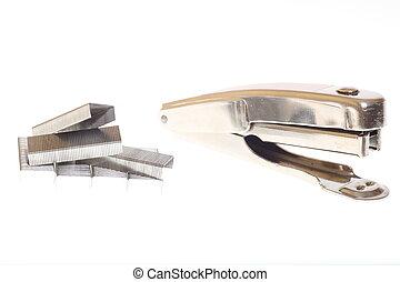 stapler on white background