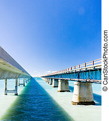 road bridges connecting Florida Keys, Florida, USA