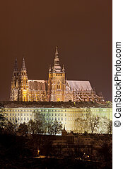 Prague Castle at night, Czech Republic