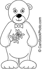 Teddy bear with rose, contours(35).jpg