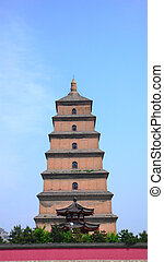 Grand Wild Goose Pagoda,Famous Landmark of Xian ,China