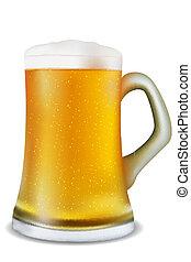 beer mug - illustration of beer mug on white background