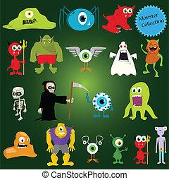 halloween vector monsters
