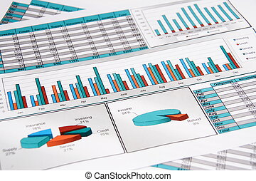 Annual Report. Graph. Diagram. Chart. Analisys. - Annual...