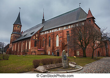 Cathedral of Koenigsberg on the Kneiphof island (now Russia,...