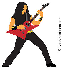Guitarist - Abstract vector illustration of heavy metal...