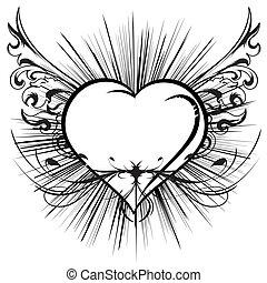 Coração, voando