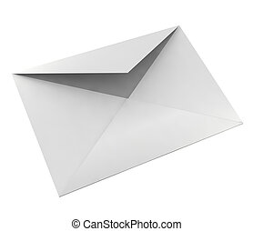 3d envelope - 3d open envelope on a white background