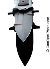 Combat knife - Fighting Folding Metal Knife isolated on a...