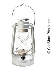 new kerosene lamp isolated on white background