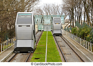 Funicular transportation - Funicular cable car public...