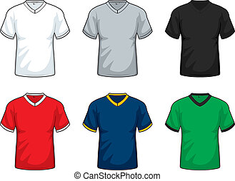 V-Neck Shirts - A variety of different colored v-neck shirts...
