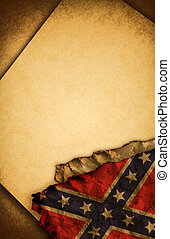 Confederate Rebel Flag and old pape - Confederate Rebel Flag...