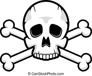 Skull and Crossbones - A cartoon skull and crossbones...