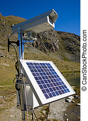 Solarpanel and webcam in the alps - Solarpanel and webcam in...