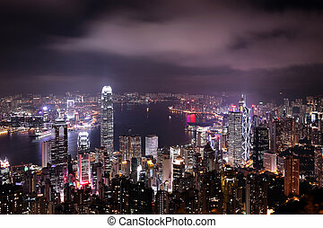 Hong Kong central district skyline