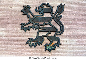 Coat of arms from Hesse - the lion