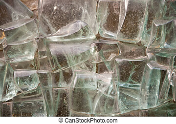 glas - structure of broken glas