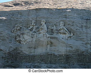 Stone Mountain Georgia - A photograph of the sculpture at...