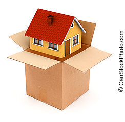 Packing or unpacking a house - Packing or unpacking a small...