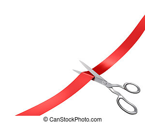 Scissors cut ribbon, corner version