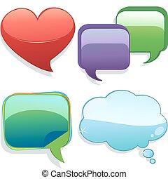Speech bubbles - A vector illustration of a set of speech...