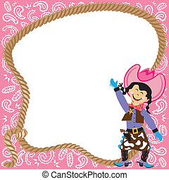 Cute Cowgirl Birthday Party Invitation