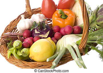 Mixed Vegetables Isolated - Isolated image of mixed...