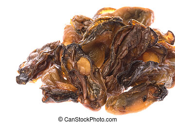 Dried Oysters - Isolated image of dried oysters