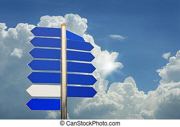 rua, direção, agradável, Nuvens
