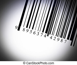 Barcode illustration in a dark background - high resolution.