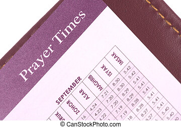 Prayer Times - Isolated image of prayer times reference...