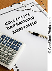 Collective Bargaining Agreement - Image of a collective...
