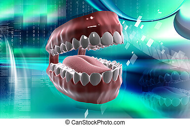 Mouth - Digital illustration of Mouth in colour background...