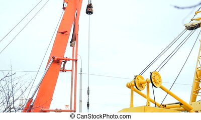 Construction - Breaking Ground - construction crane bucket...