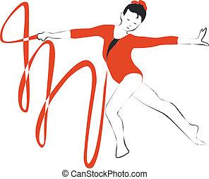 Gymnast in color 01