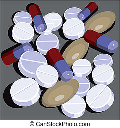 Pills set  in color 01