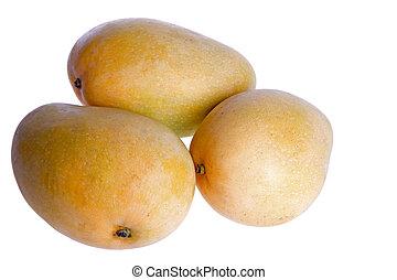 Mangoes - Isolated macro image of mangoes.