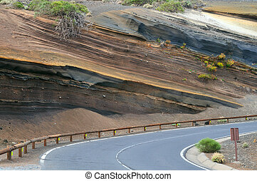 Multi-Layered Soil - Muti-Layered Colorful Soil at Tenerife