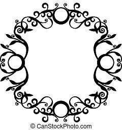 Ornament black 70 - Vector Ornament circle in black 70